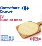 Base De Pizza Carrefour Discount Pack 3x125 G.