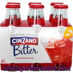 Bitter Con Soda Cinzano, Pack 6x10 Cl