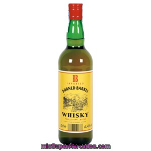 Burned Barrel Whisky Blendes 3 Años Burned Botella 70 Cl