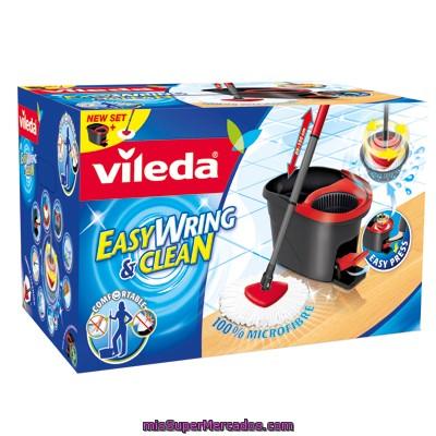 Comprar cubo escurridor con pedal fregona y palo vileda 1 - Cubo fregona escurridor automatico ...