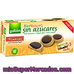 Gullon Diet Nature Ronditas Galletas Sin Azúcares Con 32% Chocolate Negro Caja 186 G