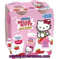 Hello Kitty De Fresa Para Beber Nestlé, Pack 4x90 Ml