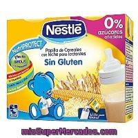 Papilla liquida leche y cereales sin gluten a partir de 6 meses nestle pack 2 x 250 cc 500 - Cereales sin gluten bebe 3 meses ...