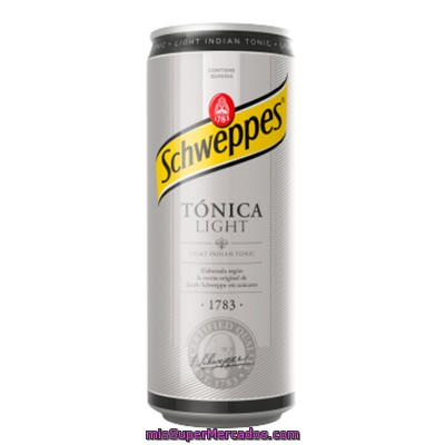 Schweppes Tónica Light Lata 33 Cl