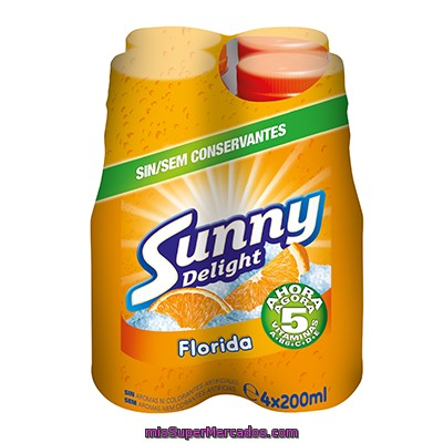 Sunny Delight Florida Refresco Multifrutas Pack 4 Envase 200 Ml