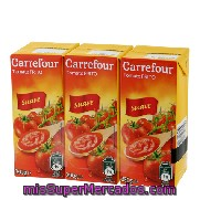 Tomate Frito Suave Carrefour Pack 3x390 G.