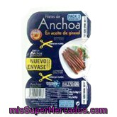 Anchoa Filete Aceite Girasol, Hacendado, Pack 3 U - 120 G Escurrido 87 G