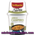 Arroz Campero Brillante Sarten, Bote 615 G