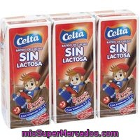 Batido Chocolate Sin Lactosa Celta, Pack 3x200 Ml