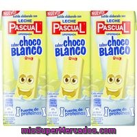 Batido De Chocolate Blanco Pascual, Pack 3x200 Ml