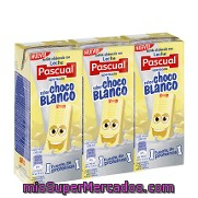 Batido De Chocolate Blanco Pascual Pack De 3x200 Ml.