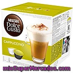 Cafe Capsula  (compatible Cafetera Dolce Gusto) Capuccino, Dolce Gusto, Caja 8+8 U - 200 G