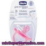 Chicco Chupete Todogoma Physiosoft Orthodontic Active Silicona Anatómico 0m+ Color Rosa Blister 1 Unidad