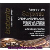 Crema Facial Veneno De Serpiente Antiarrugas Babaria 50 Ml Precio Actualizado En Todos Los Supers