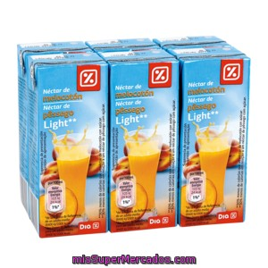 Dia Nectar Light Melocoton Pack 6 Briks 20 Cl