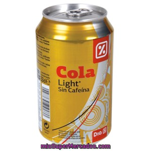 Dia Refresco De Cola Light Sin Cafeina Lata 33 Cl