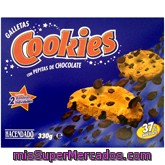 Galleta Cookies Con Pepitas De Chocolate, Hacendado, Paquete 330 G