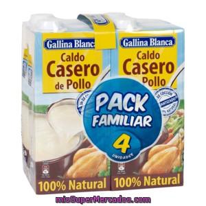 Gallina Blanca Caldo Casero De Pollo 100 Natural Pack 4 X 1 Lt Precio Actualizado En Todos Los Supers