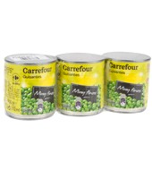 Guisantes Muy Finos Carrefour Pack De 3x140 G.