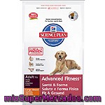 Hill's Science Plan Adult Advanced Fitness En Plena Forma Alimento Especial Con Cordero Y Arroz Para Perro Grande Bolsa 12 Kg