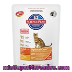 Hill's Science Plan Adult Optimal Care Alimento Especial Para Gatos Adultos Con Pollo Para Un Cuidado Optimo Bolsa 400 G