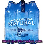 Hipercor Agua Mineral Natural Pack 6 Botellas 1,5 L