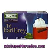 Infusion te earl grey, hacendado, caja 20 bolsitas - 35 g