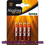 Inves High Power Pila Super Alcalina Aaa(lr03) 1,5 Voltios Blister 4 Unidades