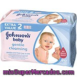 Johnson's Baby Toallitas Infantiles Gentle Cleansing Pack 2 Envases 56 Unidades