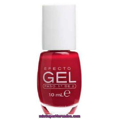 Laca Uñas Efecto Gel Nº 661 Rojo Paso 1º De 2 Deliplus U