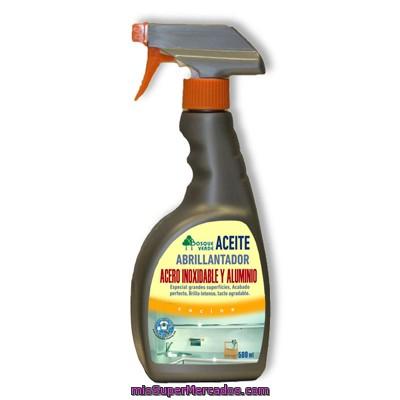 limpiador acero inoxidable y aluminio pistola aceite bosque verde botella
