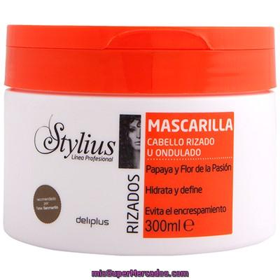 maquinilla de afeitar articulo Gángster  Mascarilla cabello rizos stylius (tapon naranja), deliplus, tarro 300 cc,  precio actualizado en todos los supers