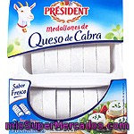 Medallones             President Queso Cabra 200 Grs
