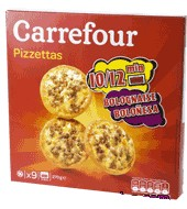 Mini Pizza Boloñesa Carrefour 270 G.