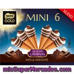 Nestle Gold Mini Cono De Helado De Nata Y Chocolate 6 Unidades Estuche 360 Ml