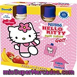 Nestle Hello Kitty Petit Suisse Go Sabor Fresa Y Plátano Pack 4 Unidades 80 G