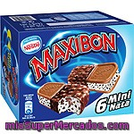 Nestle Maxibon Mini Sándwich Con Helado De Nata Galleta Y Trocitos De Chocolate 6 Unidades Estuche 510 Ml