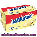 Nestle Milkybar Mini Crema De Chocolate Blanco Pack 4 Unidades 70 G