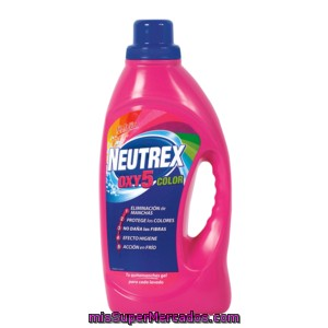 Neutrex Gel Quitamanchas Oxy5 Color Sin Lejía Botella 1.6 Lt