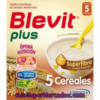 Papilla 5 Cereales Blevit Plus Superfibra 600 G.