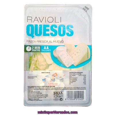 Pasta Fresca Raviolis 4 Quesos Saula Tarrina 250 G Precio