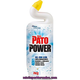 Pato Desinfectante Wc 4 En 1 Power Gel Con Lejía Botella 750 Ml