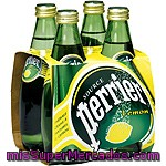 Perrier Agua Con Gas Sabor Limón Pack 4 Botellas 33 Cl