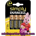 Pilas Simply Aa - Lr6 Duracell 4 Unds