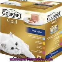 Purina Gourmet Gold Mousse Pack Surtido 8x85g