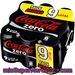 Referesco De Cola Coca Cola Zero, Pack 9x33 Cl