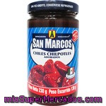 San Marcos Chiles Chilpotles Adobados Frasco 230 G