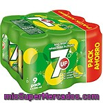 Seven Up Refresco De Lima Limón Pack 9 Latas 33 Cl