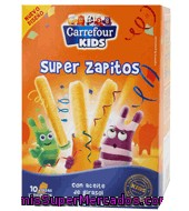 Snack Super Zapitos Carrefour Kids Pack De 10x5 G.