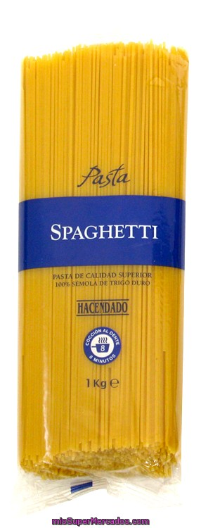 Spaghetti al huevo pasta, hacendado, paquete 500 g, mercadona